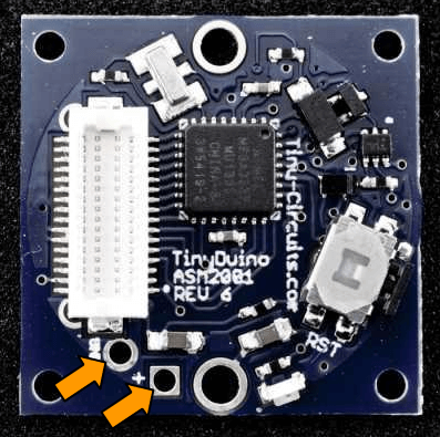 TinyDuino.poer arrows
